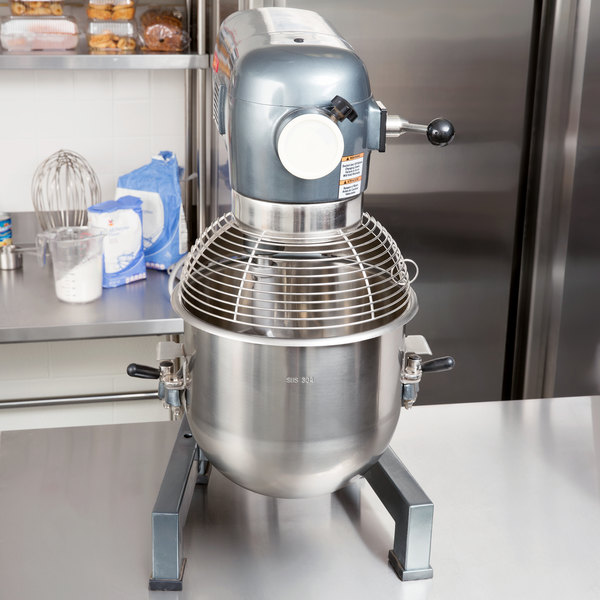 Avantco MX20WFB 20 Qt. Gear-Driven Commercial Planetary Stand Mixer with Guard and Flexible Silicone Blade Beater - 120V, 1 1/2 hp Main Image 4