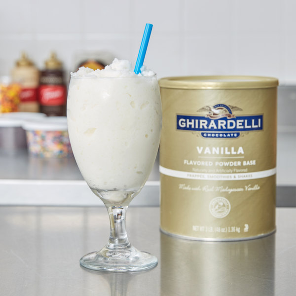 Ghirardelli 3 lb. Vanilla Flavored Frappe Beverage Base