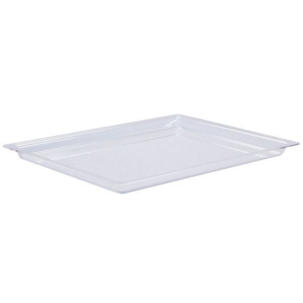 "Cal-Mil 325-18-12 18"" x 26"" Shallow Clear Bakery Tray"