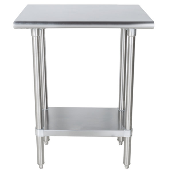 Advance Tabco SLAG X Gauge Stainless Steel Work Table - Stainless steel table 18 x 24
