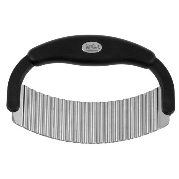 Tablecraft H6610 7 1/2 inch Stainless Steel Crinkle Cutter with Plastic Handle