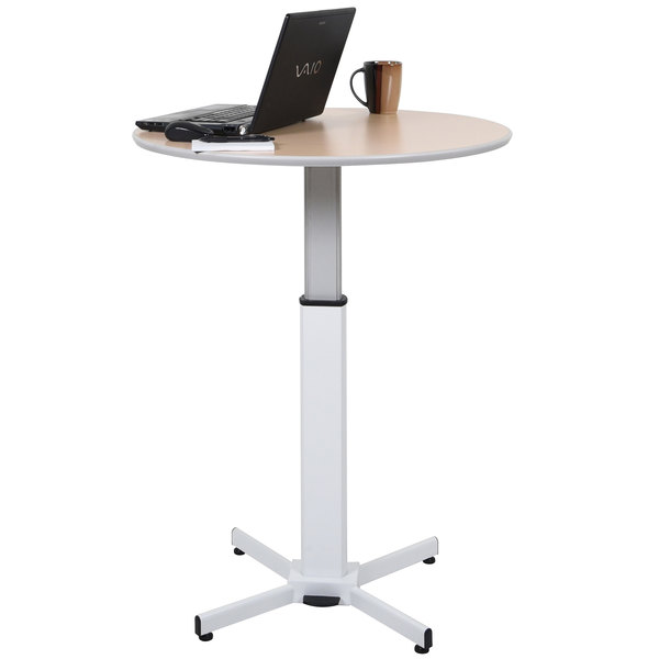 "Luxor LX-PNADJ-ROUND 31 1/2"" Round Pneumatic Adjustable Height Table"