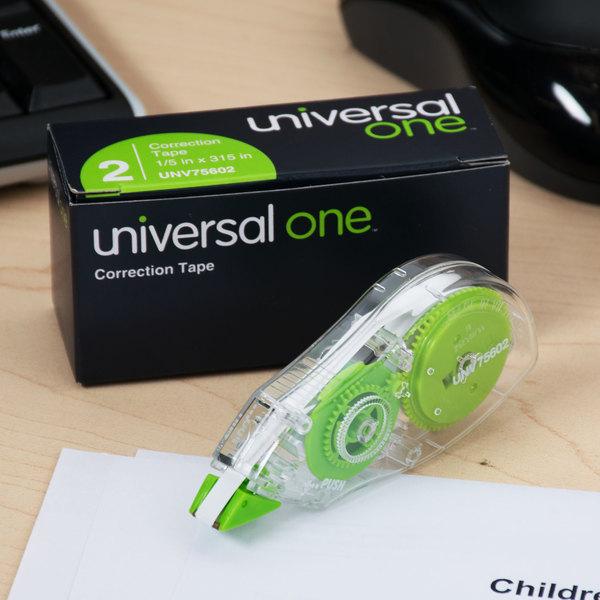 "Universal UNV75602 1/5"" x 315"" Corrective Tape - 2/Pack Main Image 8"