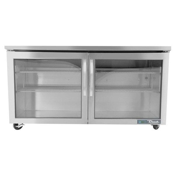 "True TUC-60G-ADA~FGD01 60"" ADA Height Undercounter Refrigerator with Glass Doors"