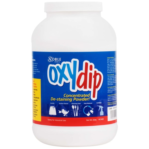 8 lb. / 128 oz. Noble Chemical Oxy Dip Bleach Presoak and Destainer - 4/Case