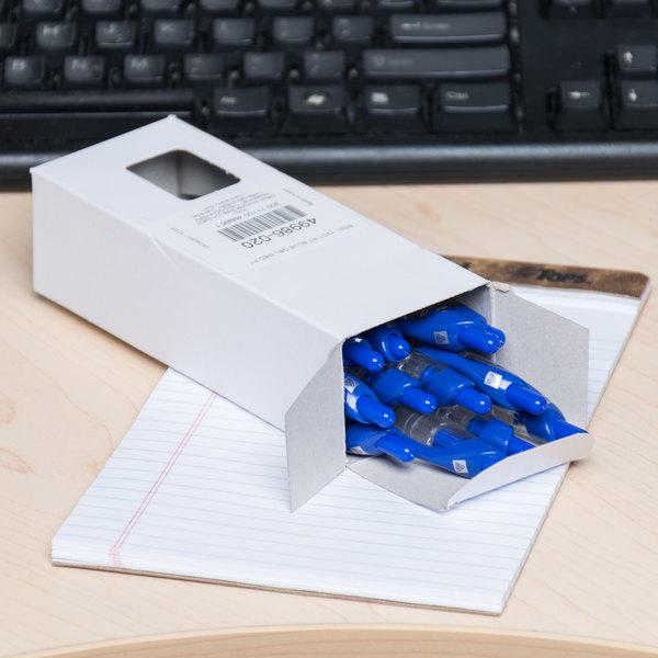 Avery 49986 eGEL Blue Medium Point (0.7mm) Retractable Rollerball Gel Pen - 12/Pack Main Image 8