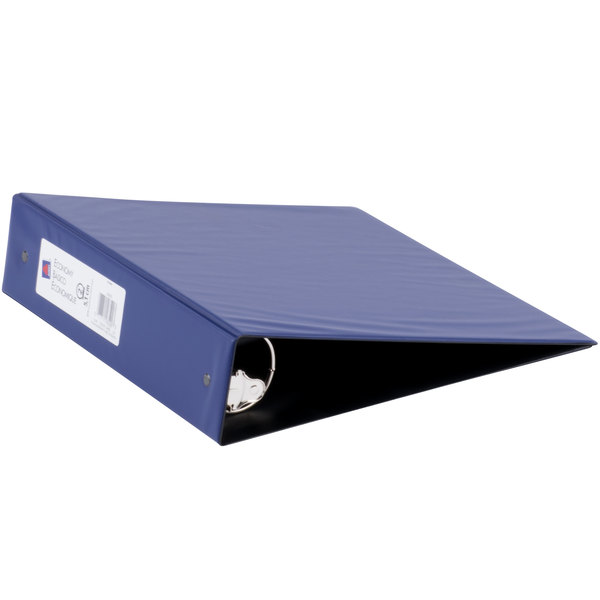 Avery 03500 Blue Economy Non-View Binder with 2 inch Round Rings
