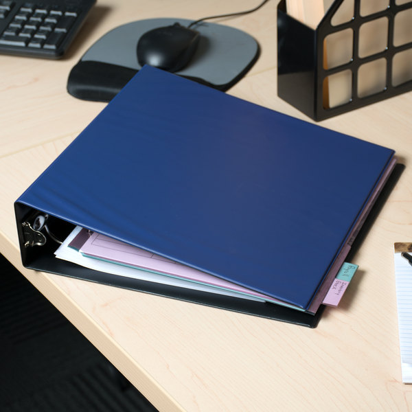 "Avery 03500 Blue Economy Non-View Binder with 2"" Round Rings Main Image 5"