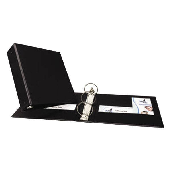 Avery 3602 Black Economy Non-View Binder with 3 inch Round Rings