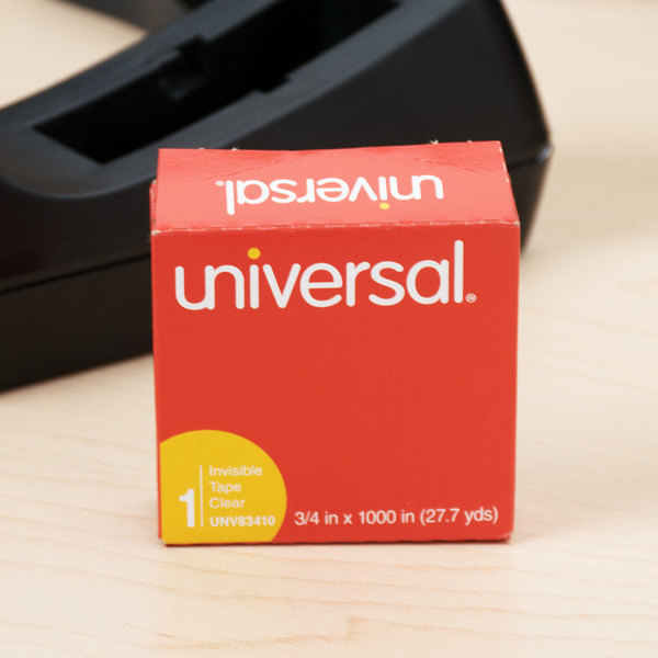 """Universal UNV83410 3/4"""" x 1000"""" Clear Write-On Invisible Tape - 6/Pack"""