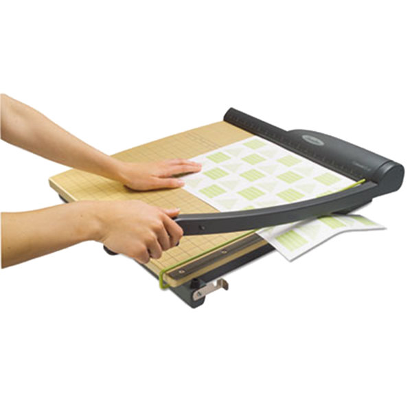 """Swingline 9118 ClassicCut Pro 18"""" Square 15 Sheet Guillotine Paper Trimmer with Wood Composite Base Main Image 3"""