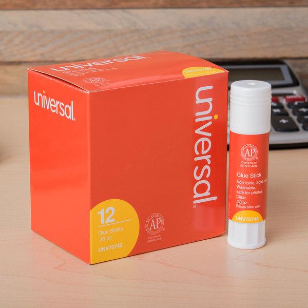 Universal UNV75748 0.28 oz. Clear Glue Stick - 12/Pack
