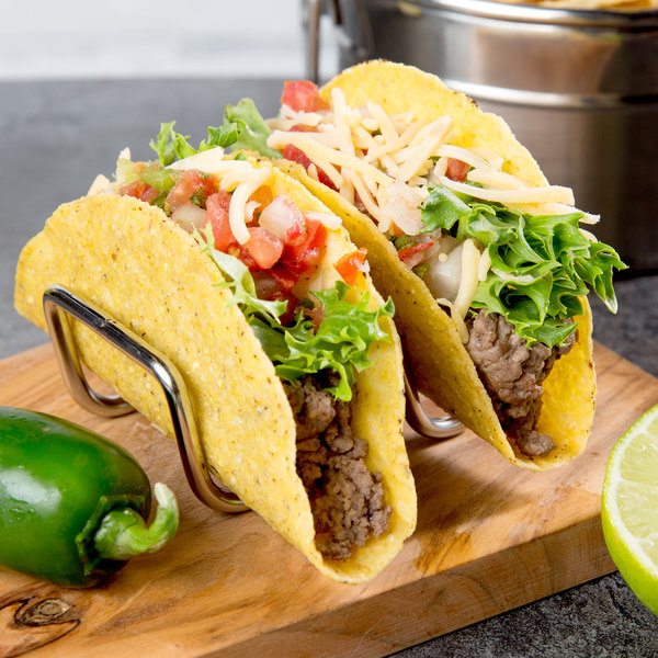 Half-Size Stainless Steel One Or Two Compartmentsc Details about  /Taco Holder