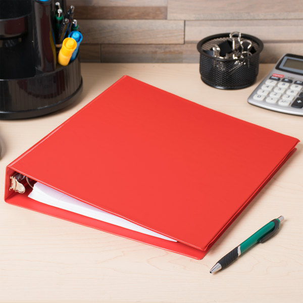 """Avery 3410 Red Economy Non-View Binder with 1 1/2"""" Round Rings Main Image 3"""