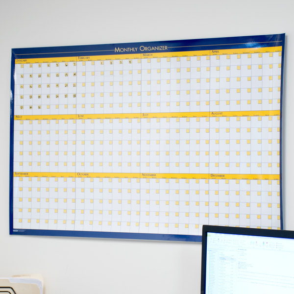 "House of Doolittle HOD642 36"" x 24"" 12 Month Dry Erase Planning Board Main Image 5"