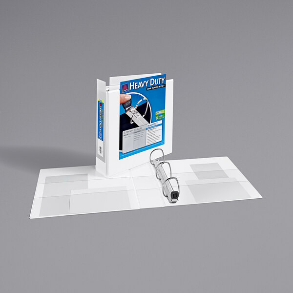 """Avery 1320 White Heavy-Duty View Binder with 2"""" Locking One Touch EZD Rings and Extra-Wide Covers Main Image 1"""