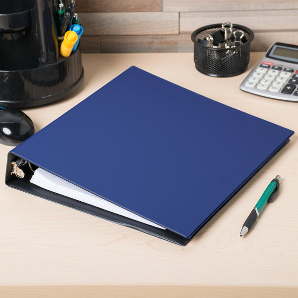 "Avery 3400 Blue Economy Non-View Binder with 1 1/2"" Round Rings Main Image 4"