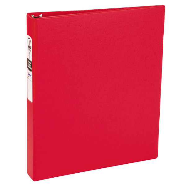 """Avery 03310 Red Economy Non-View Binder with 1"""" Round Rings"""