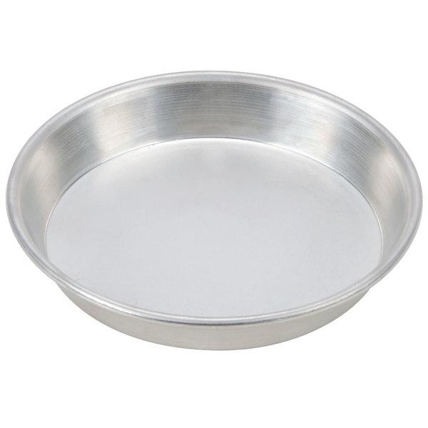 "American Metalcraft TDEP7 7"" x 1"" Tin-Plated Steel Tapered / Nesting Deep Dish Pizza Pan"