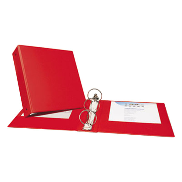 Avery 03608 Red Economy Non-View Binder with 3 inch Round Rings