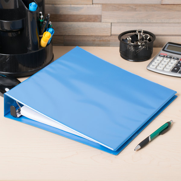 """Avery 5401 Light Blue Heavy-Duty Non-Stick View Binder with 1 1/2"""" Slant Rings"""