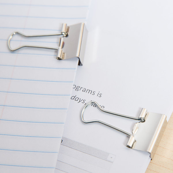 "Universal UNV11240 3/8"" Capacity Silver Small Binder Clip - 40/Pack Main Image 9"