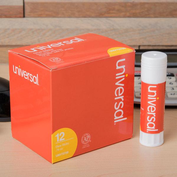 Universal UNV75750 0.74 oz. Clear Glue Stick - 12/Pack