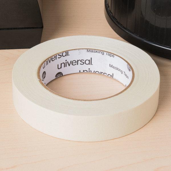 """Universal UNV51301CT 1"""" x 60 Yards General Purpose Masking Tape - 36/Case"""