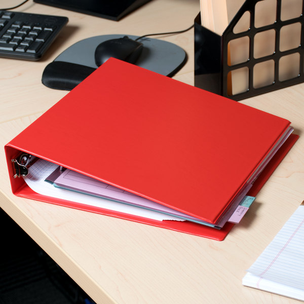 """Avery 03510 Red Economy Non-View Binder with 2"""" Round Rings Main Image 5"""
