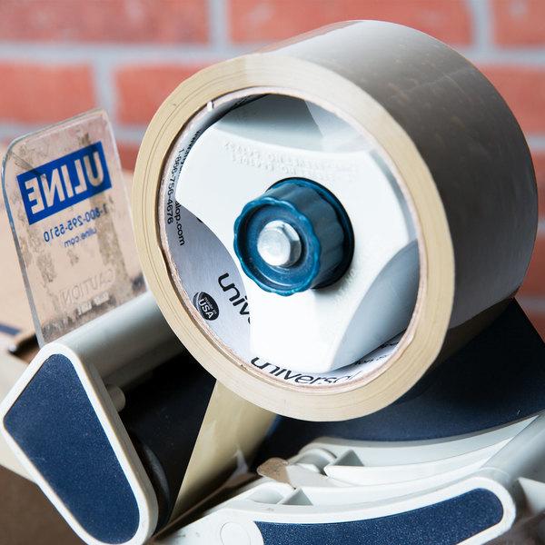 "Universal UNV63001 2"" x 55 Yards Tan General Purpose Box Sealing Tape - 6/Pack"