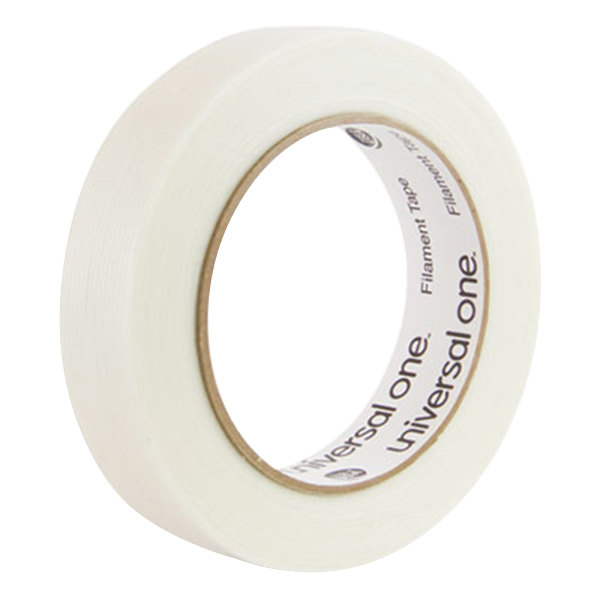 "Universal UNV31624 1"" x 60 Yards Clear 350# Premium Filament Tape"