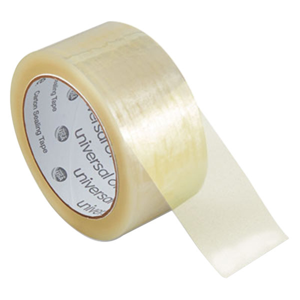 "Universal One UNV99000 2"" x 55 Yards Clear Heavy-Duty Box Sealing Tape - 36/Pack"