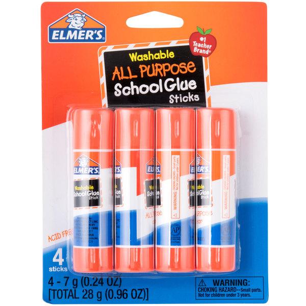 Elmer's E542 0 24 oz  Clear School Glue Stick - 4/Pack