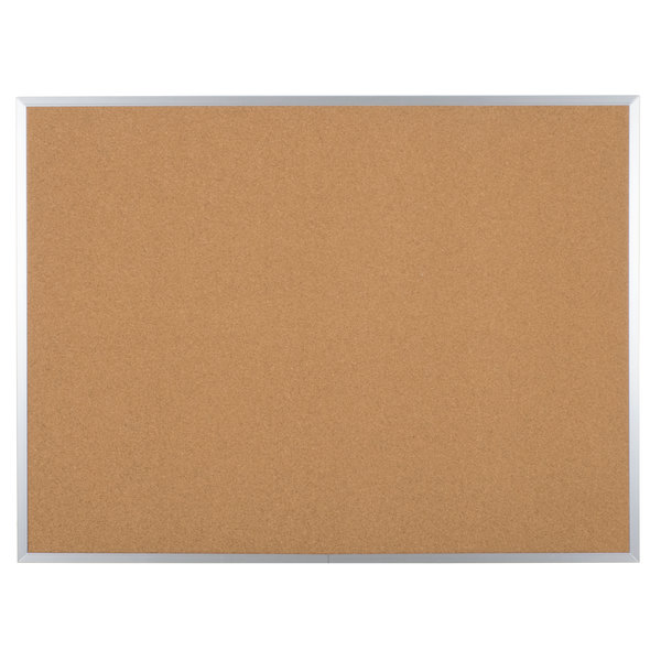 Universal UNV43614 36 inch x 48 inch Natural Cork Board with Aluminum Frame