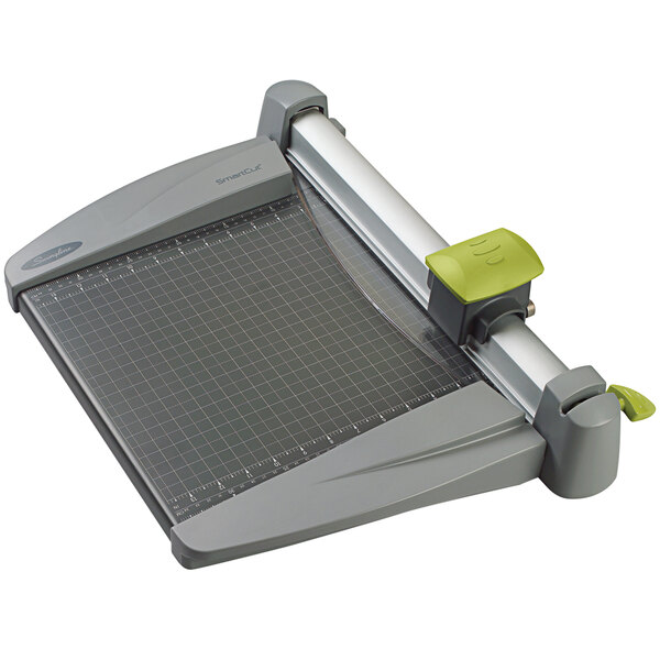 """Swingline 9612 SmartCut 12"""" x 22"""" 30 Sheet Commercial Heavy-Duty Rotary Paper Trimmer with Metal Base Main Image 1"""