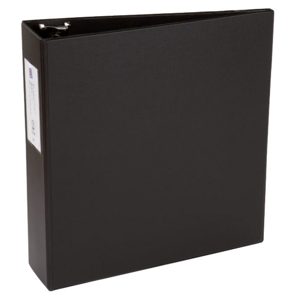 Avery 4601 Black Economy Non-View Binder with 3 inch Round Rings and Spine Label Holder
