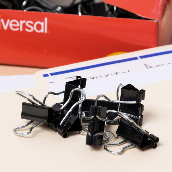 "Universal UNV10199VP3 1/4"" Capacity Black Mini Binder Clip - 36/Box Main Image 7"