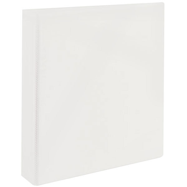 """Avery 5404 White Heavy-Duty Non-Stick View Binder with 1 1/2"""" Slant Rings"""