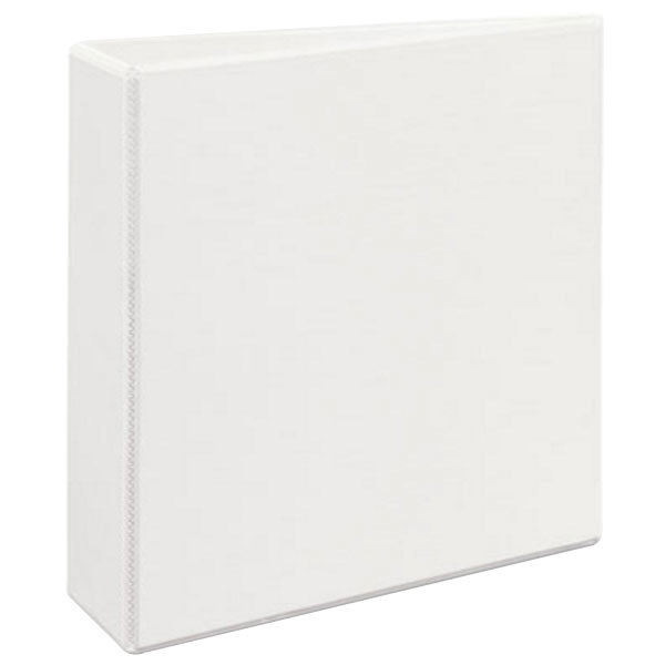 """Avery 9701 White Durable View Binder with 3"""" Non-Locking One Touch EZD Rings Main Image 1"""