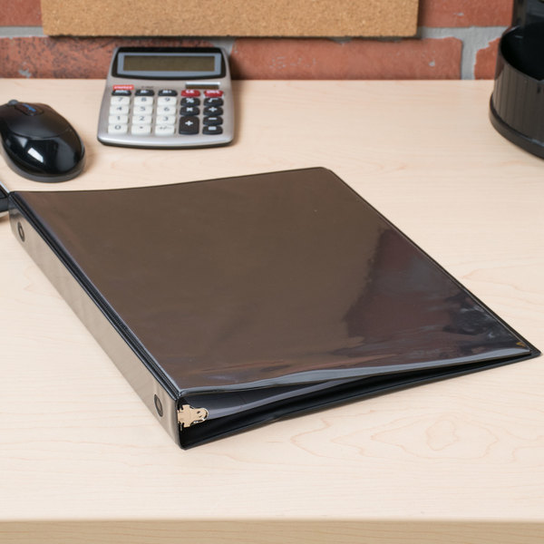 """Avery 05710 Black Economy View Binder with 1"""" Round Rings Main Image 6"""