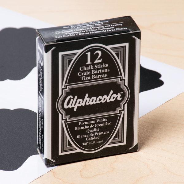 Quartet 314005 Alpha White Low-Dust Chalk - 12/Box