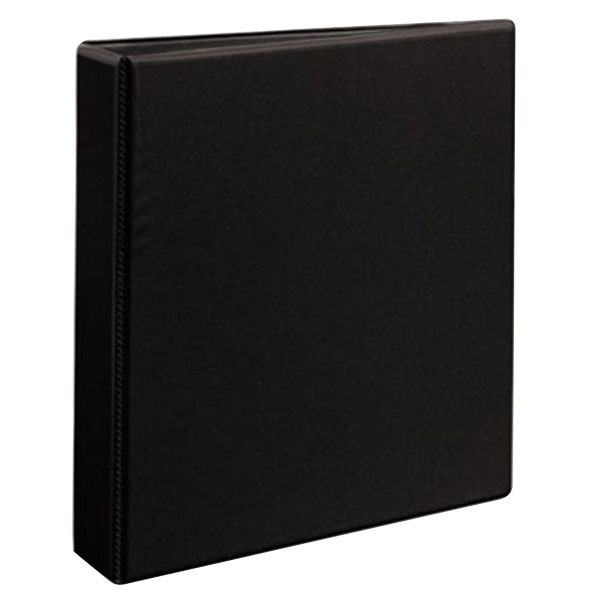 "Avery 9400 Black Durable View Binder with 1 1/2"" Non-Locking One Touch EZD Rings Main Image 1"