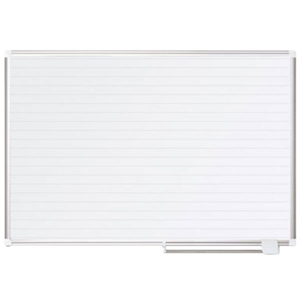 "MasterVision MA0594830 48"" x 36"" White Ruled Dry Erase Planning Board"