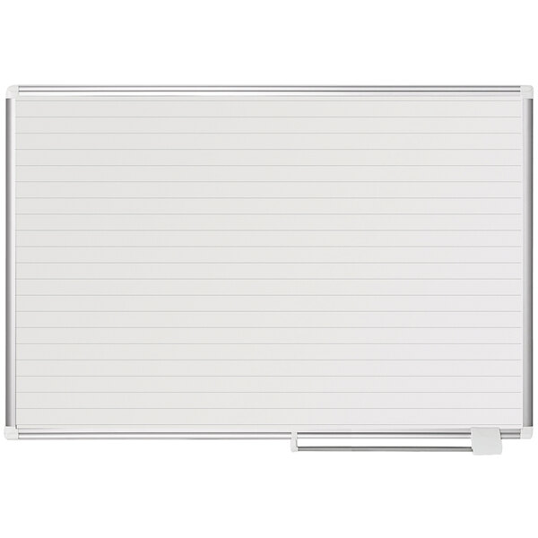 """MasterVision MA0594830 48"""" x 36"""" White Ruled Dry Erase Planning Board Main Image 1"""