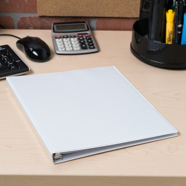 "Avery 5706 White Economy View Binder with 1/2"" Round Rings"
