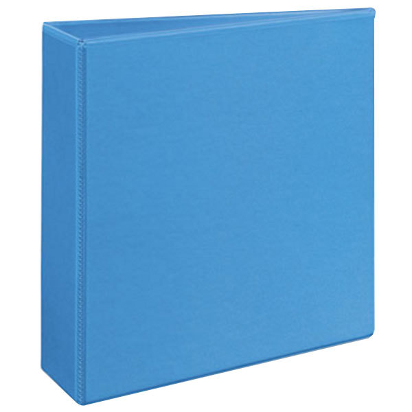 """Avery 5601 Light Blue Heavy-Duty Non-Stick View Binder with 3"""" Slant Rings"""