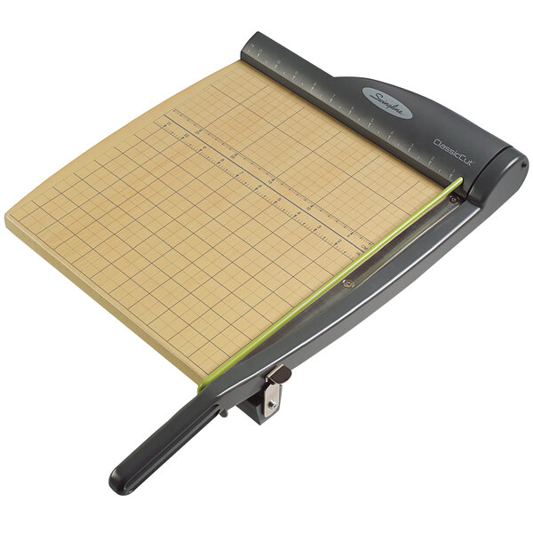 """Swingline 9112 ClassicCut Pro 12"""" Square 15 Sheet Guillotine Paper Trimmer with Wood Composite Base Main Image 1"""