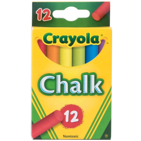 Crayola 510816 6 Assorted Colors Drawing Chalk  - 12/Box