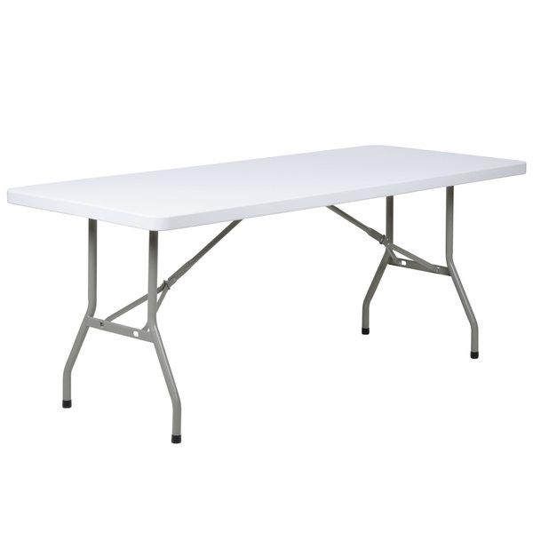 "10-pack) 30"" x 72"" heavy duty white granite plastic folding banquet"