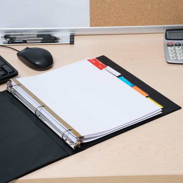 Avery 11121 Big Tab White Paper 5-Tab Multi-Color Insertable Dividers